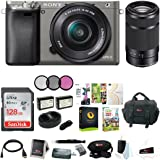 Sony Alpha a6000 Camera w/ Lens, Accessory, and Software Bundle (Dual Lens Bundle)