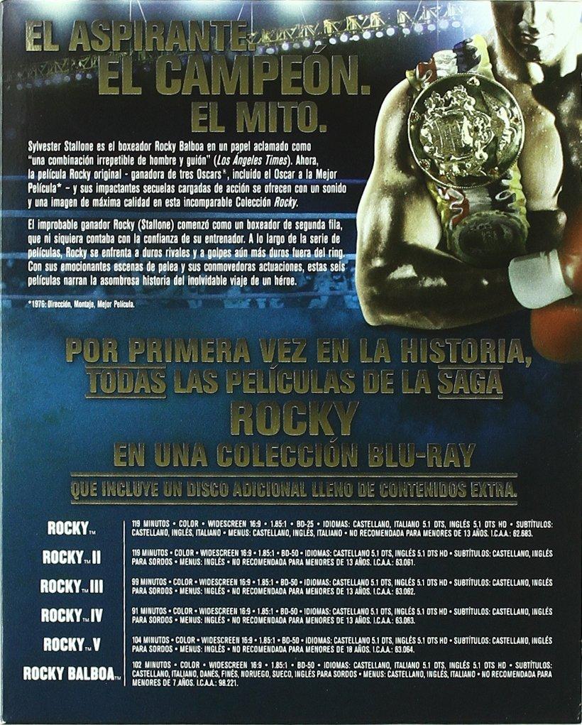 Rocky Saga Completa - Blu-Ray [Blu-ray]: Amazon.es: Sylvester Stallone, Varios, Sylvester Stallone: Cine y Series TV