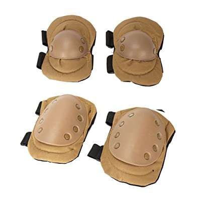NACOLA Adult Knee Pad Elbow Pad Set, 4PCS Knee Elbow Protective Pads Paintall Skate Outdoor Sports Safety Guard Gear Set : Sports & Outdoors