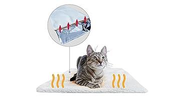 PiuPet Manta térmica para Gatos & Perros Tamaño: 60x45 cm | Autocalentado - sin Electricidad