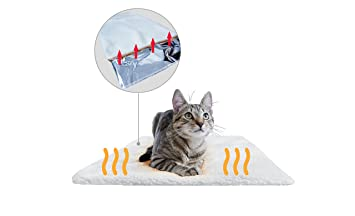 PiuPet Premium Manta térmica para Gatos & Perros Tamaño: 60x45 cm | Autocalentado - sin