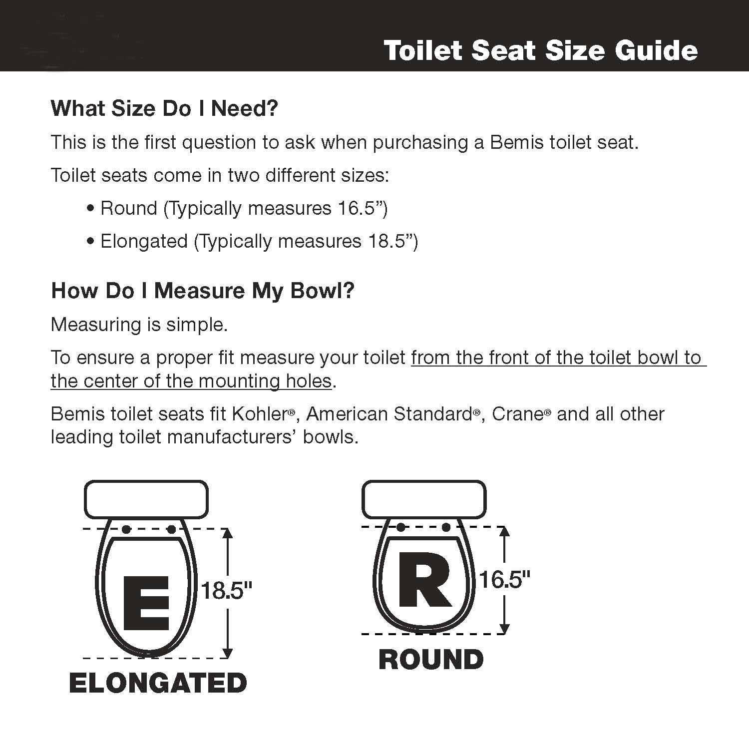 Bemis Medic-Aid 2'' Lift Raised Open Front Plastic Toilet Seat and Cover, Elongated, White, 2L2150T 000
