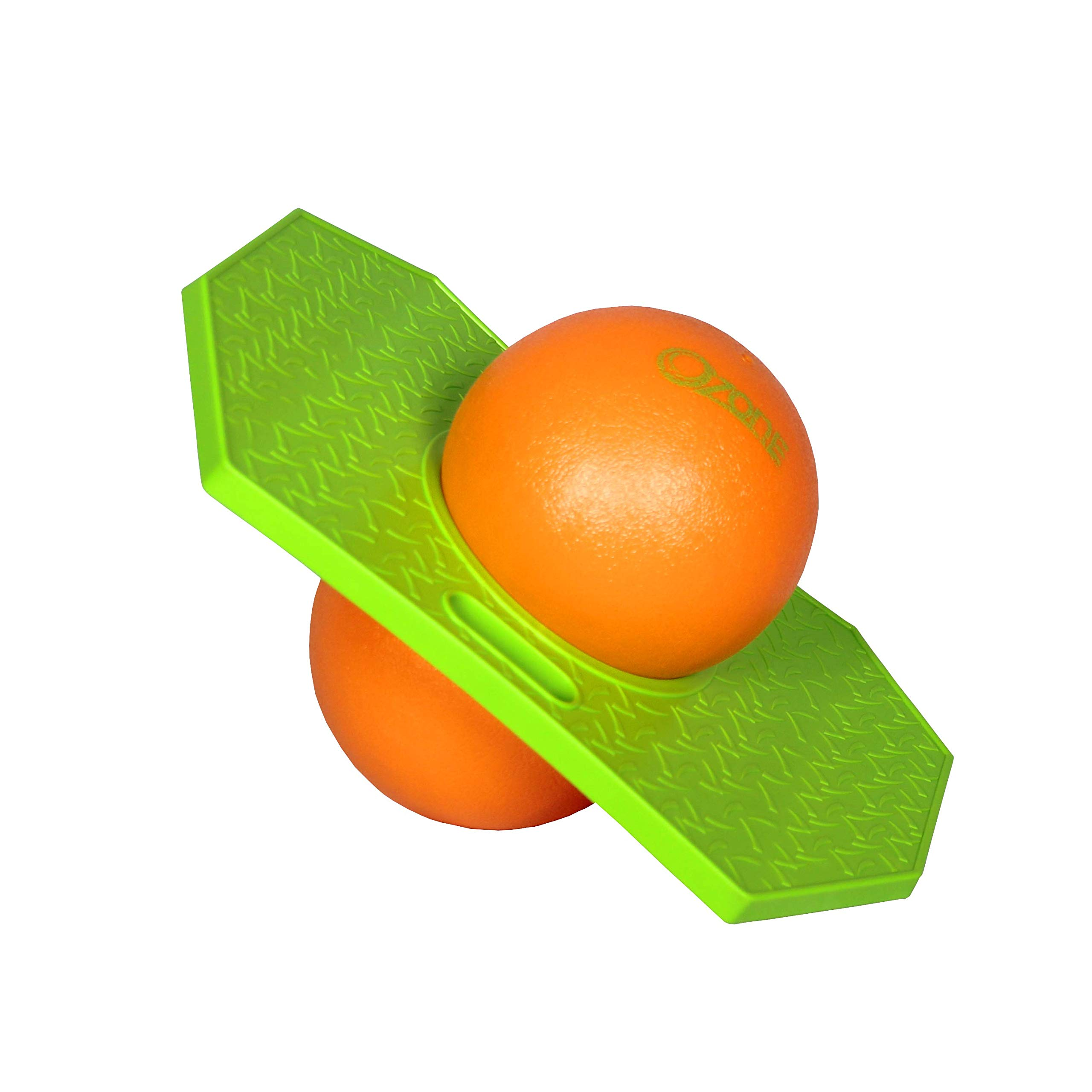 Flybar Pogo Ball for Kids, Jump Trick Bounce Board with Pump and Strong Grip Deck (Green Ozone) by Flybar