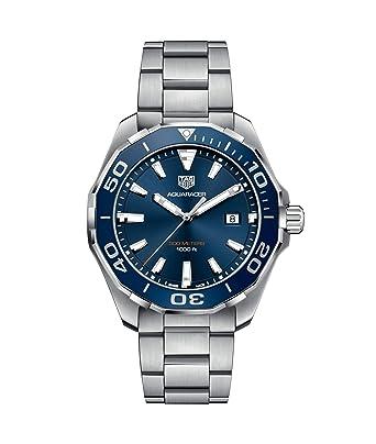 258dda44fbd0 Amazon.com  TAG Heuer Aquaracer Blue Dial 43mm Men s Watch WAY101C.BA0746  TAG  Heuer  Watches