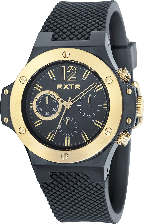 LTD WATCH Unisex-Armbanduhr RXTR Chronograph Silikon schwarz LTD-310202