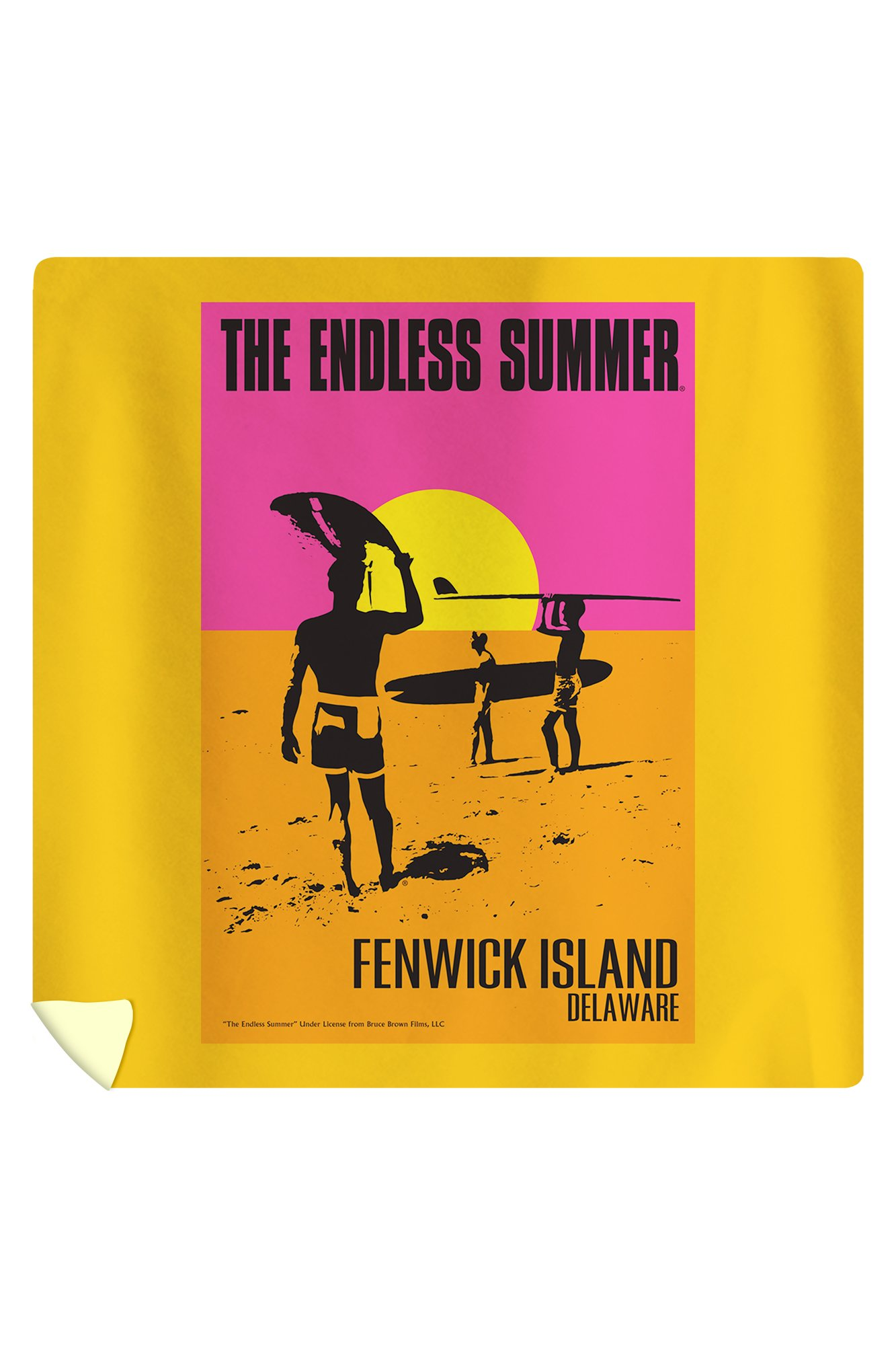 Fenwick Island, Delaware - The Endless Summer - Original Movie Poster (88x88 Queen Microfiber Duvet Cover)