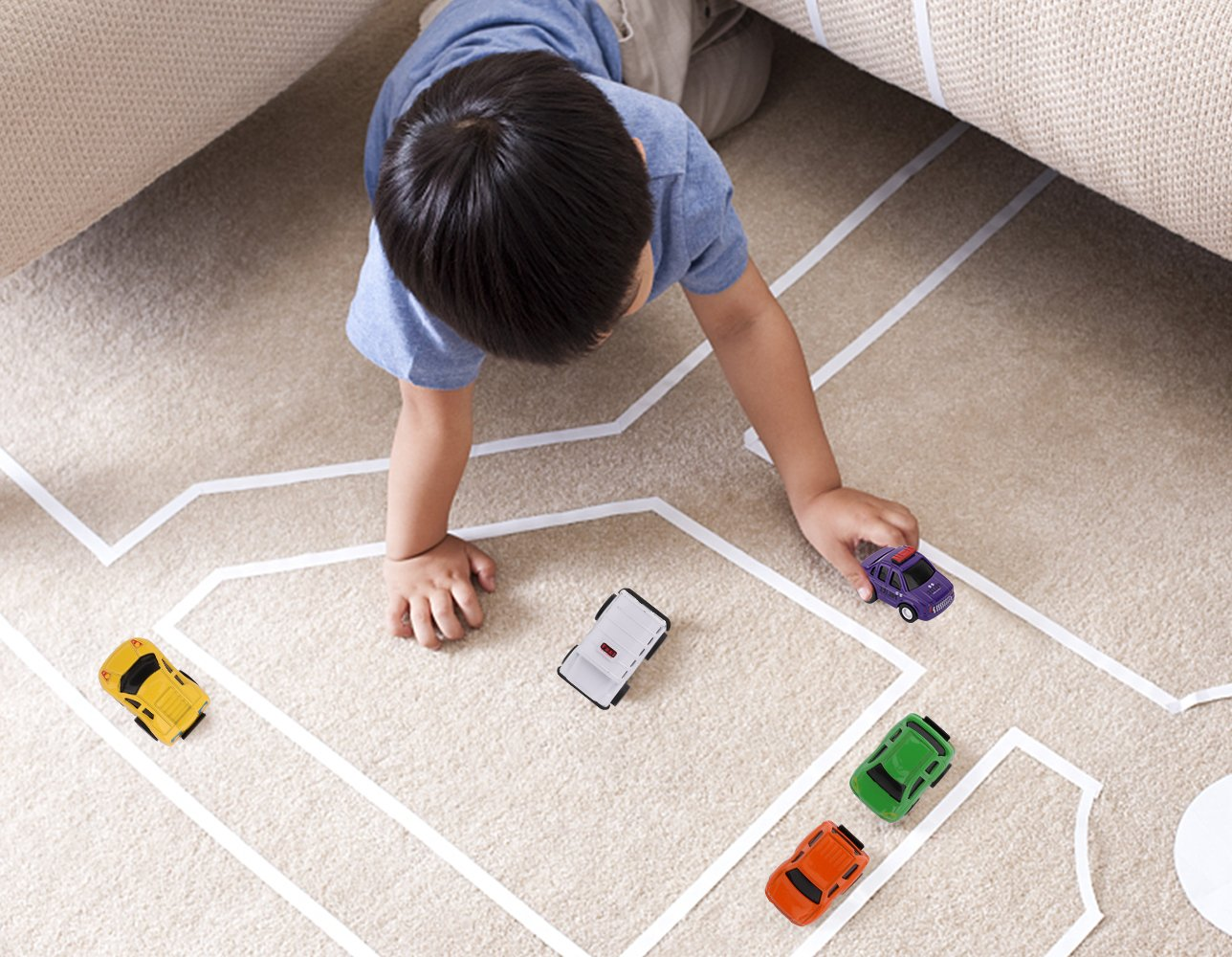 Pull Back and Go Car Toy Play Set 5 Pack Mini Assorted Construction Car Toy Zooawa Pull Back Cars Toy Cars for Kids Toddlers Boys Child