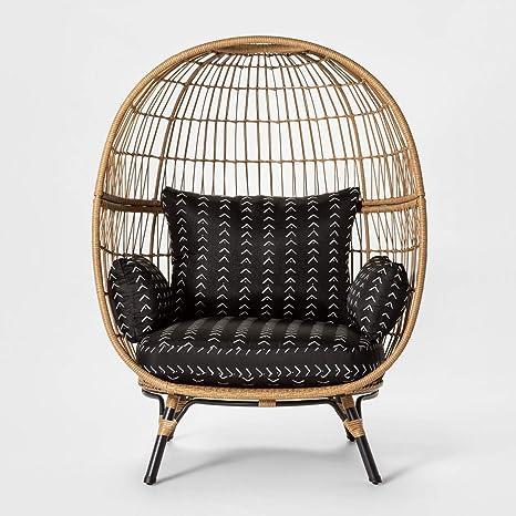 Pleasant Amazon Com Opalhouse Southport Patio Egg Chair Black Spiritservingveterans Wood Chair Design Ideas Spiritservingveteransorg