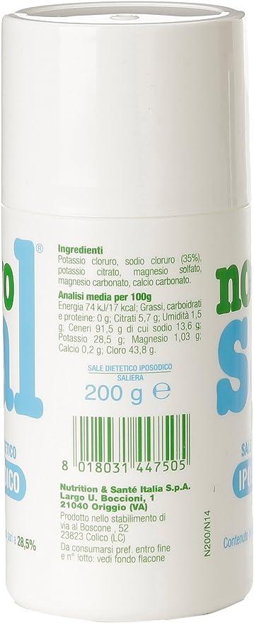 Novosal – Sal Dietetico iposodico – 200 g: Amazon.es: Alimentación y bebidas