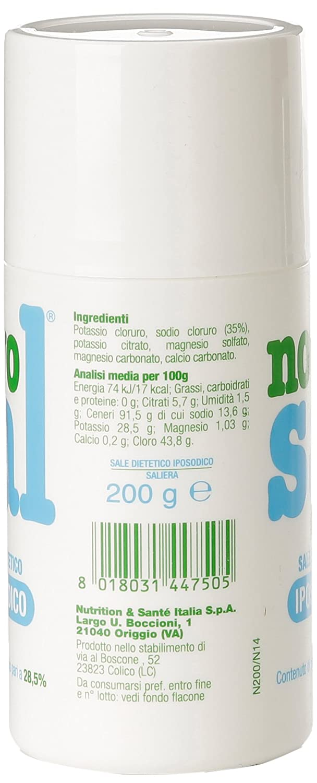 Novosal - Sal Dietetico iposodico - 200 g: Amazon.es: Alimentación y bebidas