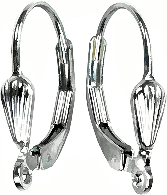10 Silver XL 10mm Ball Clip On Earring Hooks Findings