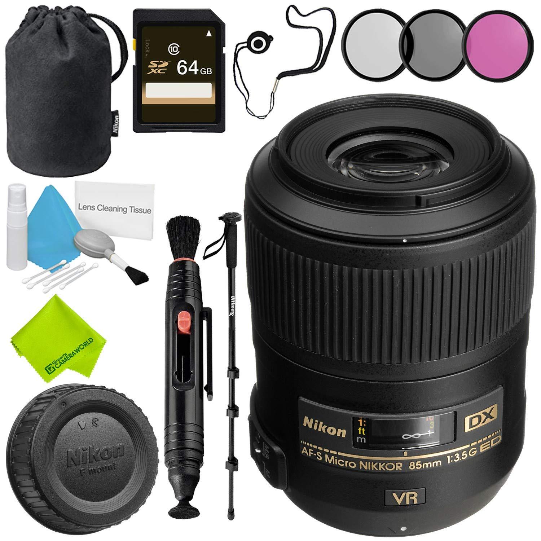 Nikon AF-S DX Micro NIKKOR 85mm f/3.5G ED VR Lens Advanced Bundle by Nikon (Image #1)