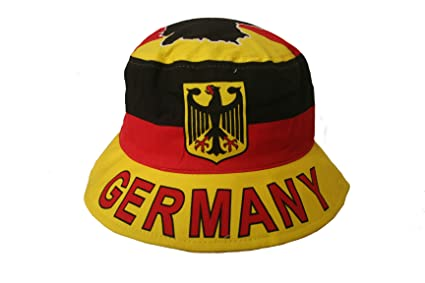 a7a3709e6ae Image Unavailable. Image not available for. Color  Germany Deutschland Country  Flag BUCKET HAT ...