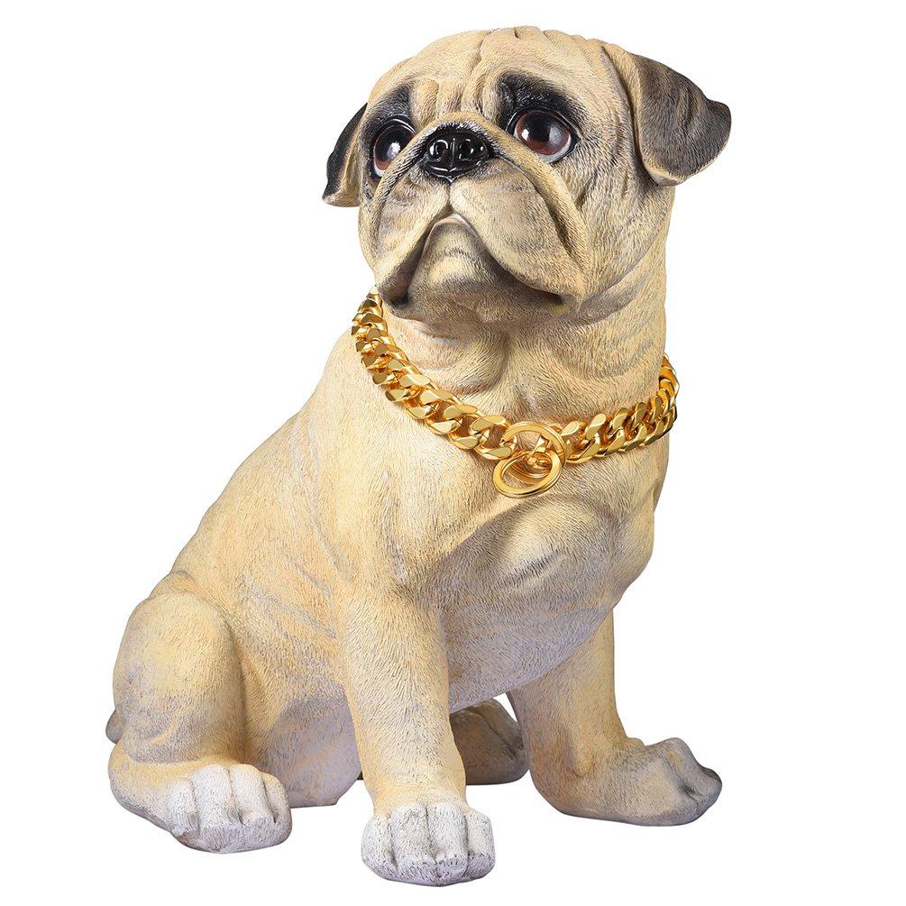 Plateado 71cm PROSTEEL Collar Resistente de Perro Cadena de Acero Inoxidable 15mm de Ancho Cadena de Seguridad