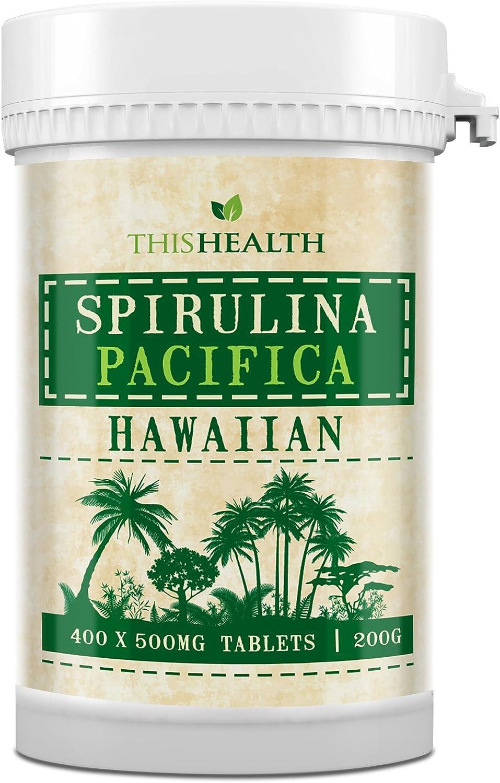 400 Comprimidos de Espirulina (200g) Espirulina Pacífica hawaiana: Amazon.es: Electrónica