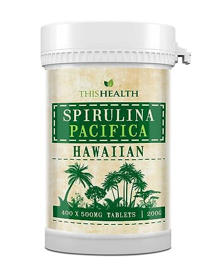 400 Comprimidos de Espirulina (200g) Espirulina Pacífica hawaiana