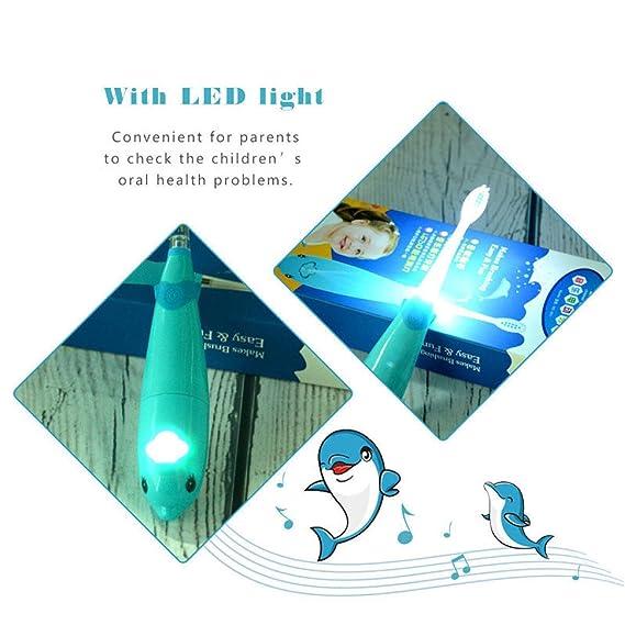 Taotao Cepillo De Dientes Eléctrico Cepillo De Dientes con Batería LED Luz  2 Minutos Temporizador Inteligente para Niños Cepillo De Repuesto con  Atención ... 583da0d4e28c