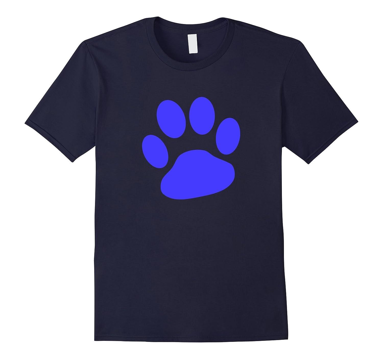 Blue Paw Print T-Shirt-FL