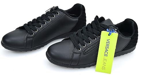 VERSACE JEANS Zapatillas Deportivas Negro para Hombre Art. E0GQBSC2 43 Nero - Black: Amazon.es: Zapatos y complementos