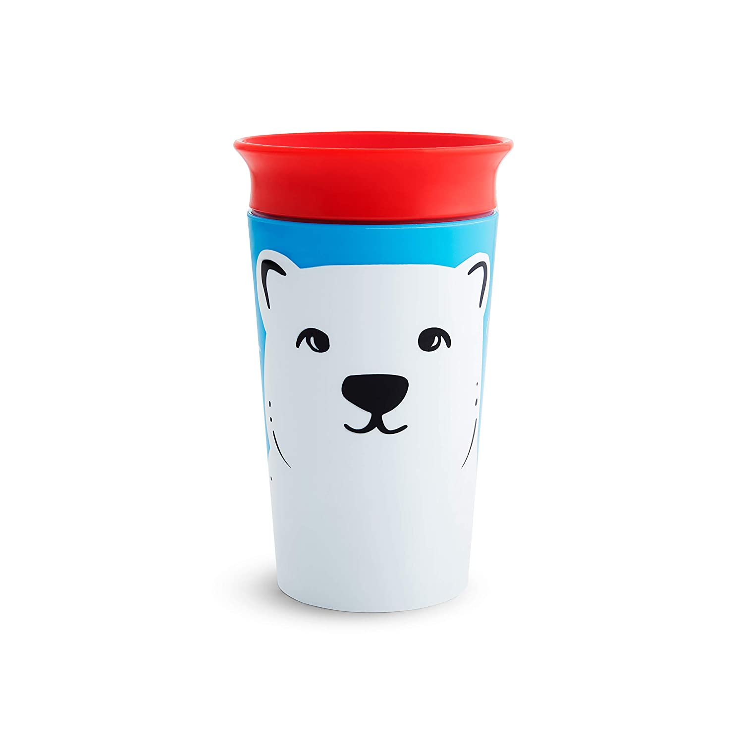 Munchkin Miracle 360 WildLove Sippy Cup, (Pack of 3, Red Fox/Polar Bear/Orca)