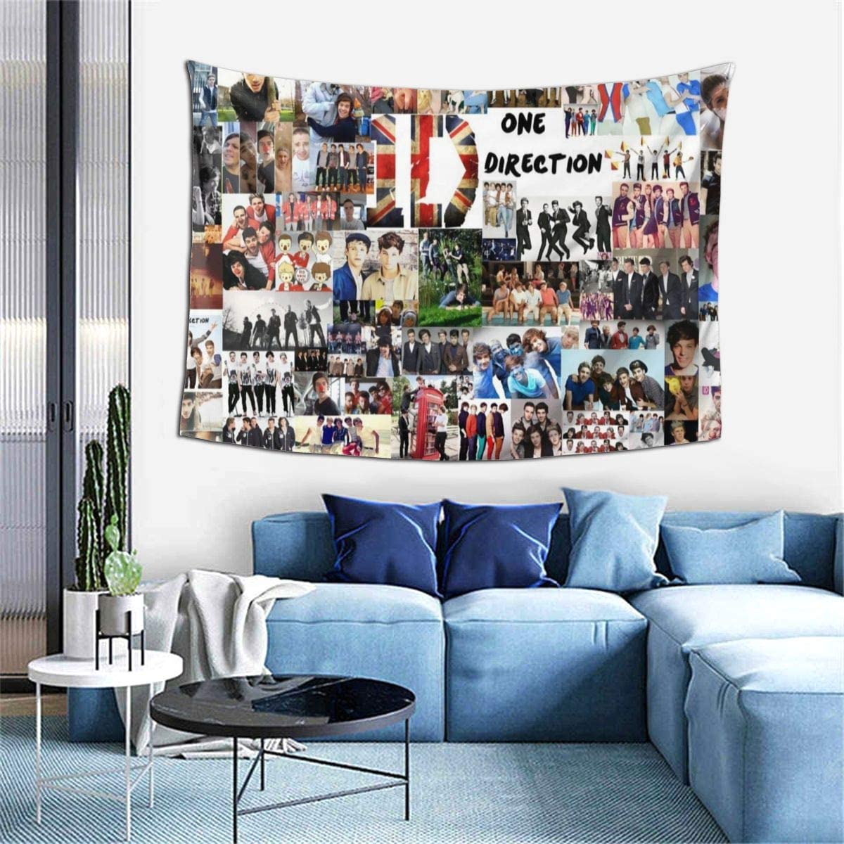 GIPHOJO One Direction Ultra-Soft 3D HD Print Wall HangingTapestry Fashion Wall Home Art Home Living Room Bedroom Decorations, All Season,Black,One Size