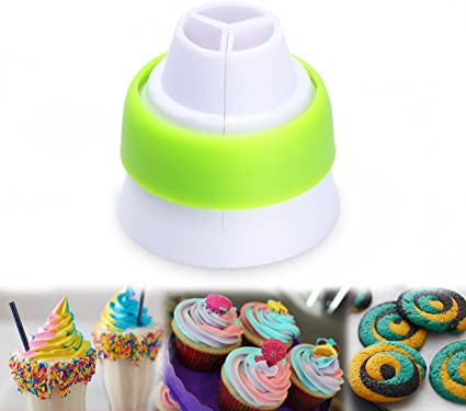 New Icing Piping Russian Nozzles Bag Cream Converter Coupler Cake Decor Tools/'UK
