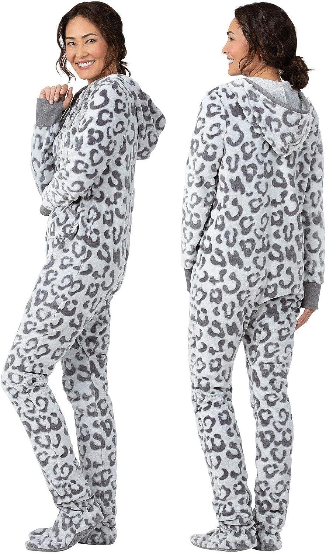 Fleece Womens Onesie PajamaGram Hoodie-Footie One Piece Pajamas for Women