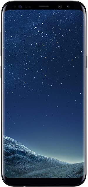 Samsung Galaxy S8+, 64GB, Midnight Black - Fully Unlocked (Renewed)