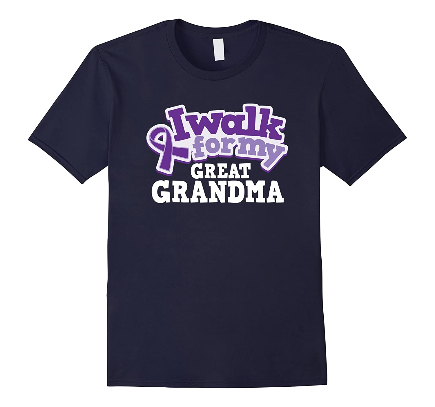 Alzheimers Great Grandma Awareness T-shirt Pancreatic Cancer-BN