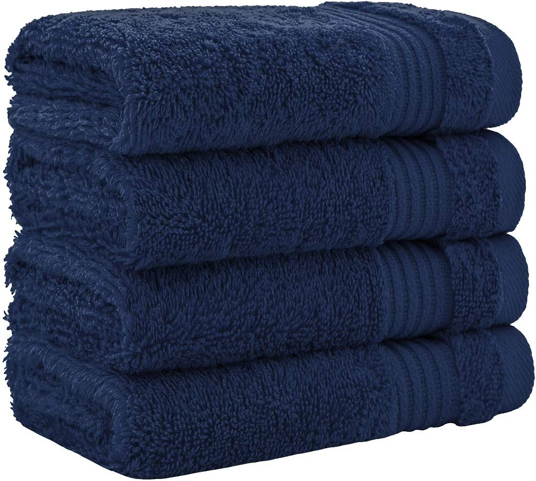 Sage Green Fingertip Towels Extra Soft /& Absorbent 4 Pack Washcloth Set by United Home Textile Luxury Turkish Cotton Washcloths for Easy Care