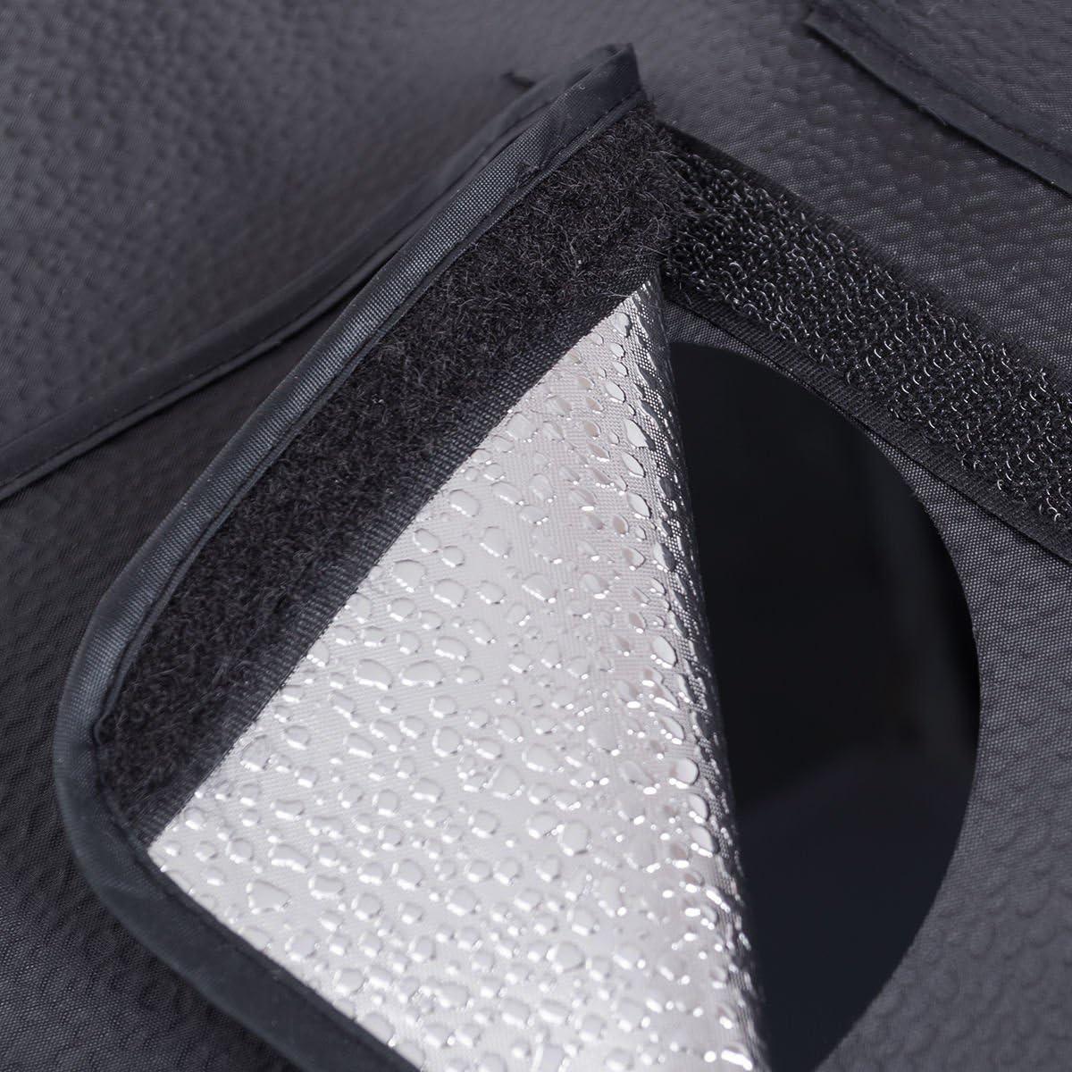 Safstar Portable 16 x 16 x 16 Photo LED Studio Shooting Tent Photography Box Cube Lighting Kit with 3 Colors Backdrops Black, White, Yellow