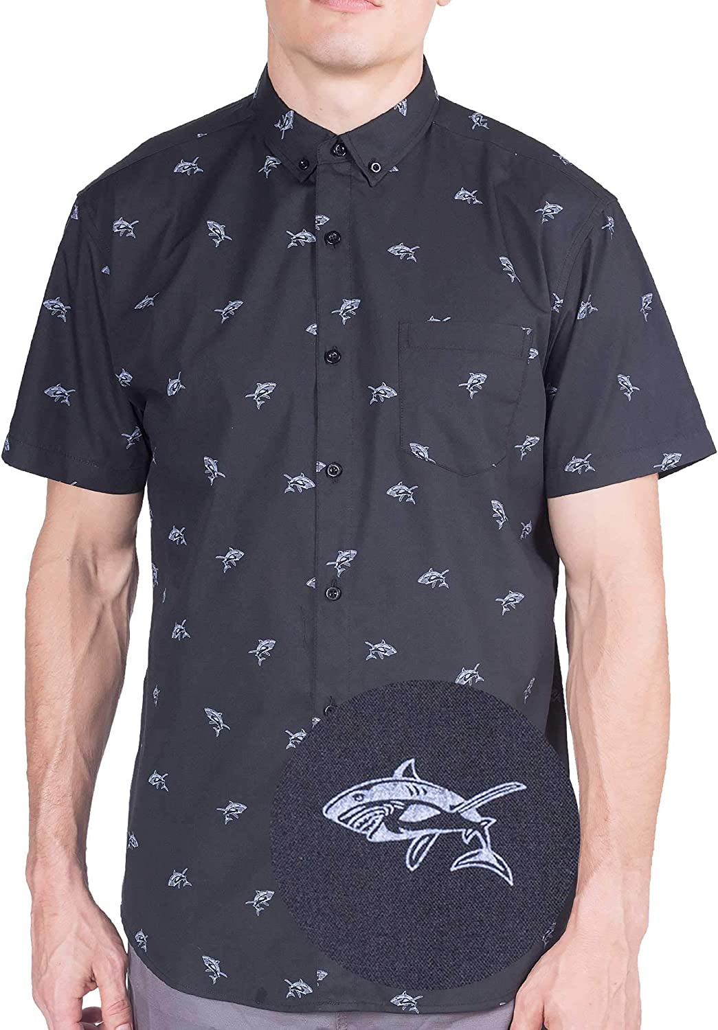 Visive Mens Short Sleeve Button Down Printed Shirts - Over 45 Novelty Prints Sizes S - 4XL