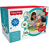 Fisher-Price 4in1 Baby's First Essentials Kit with Kick N Play Gym, Booster Seat, Bouncer and Bedding Set