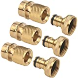 3Sets of Male and Female 3/4 Inch Garden Hose End and Faucet Quick Connector Set