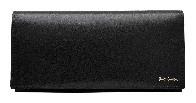 [名入れ可] ポールスミス Paul Smith 正規品 本革 シティエンボス 長財布 ショップバッグ付 ロングウォレット B01LEVT8YC  ブラック 刻印なし