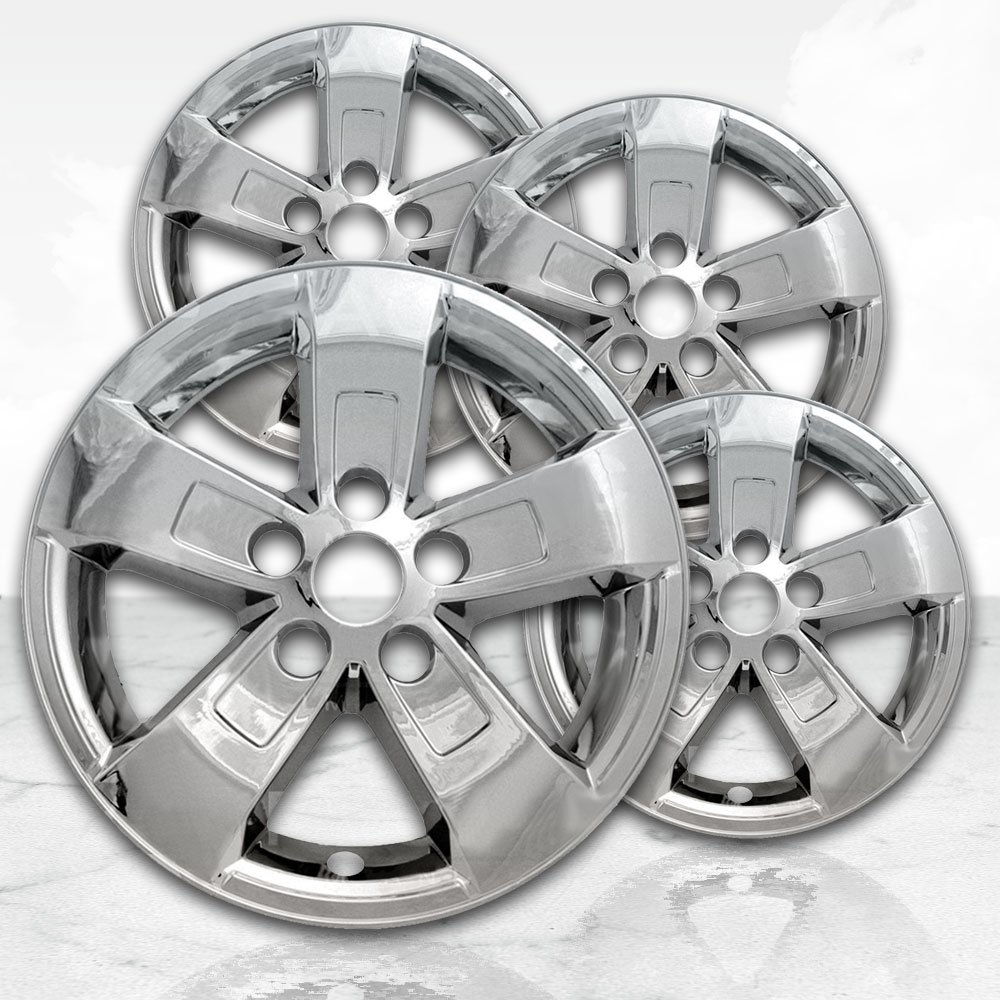 """4 PC Hubcaps Fits Chevy Malibu 17/"""" Chrome ABS Snap On Replacement Wheel Rim Skin"""
