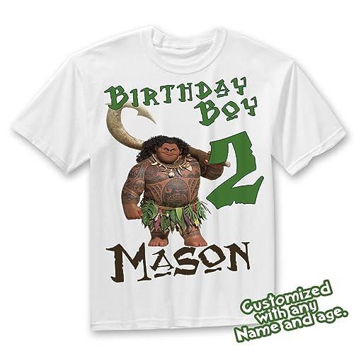 Moana Birthday Shirt Maui Boys Personalized Party