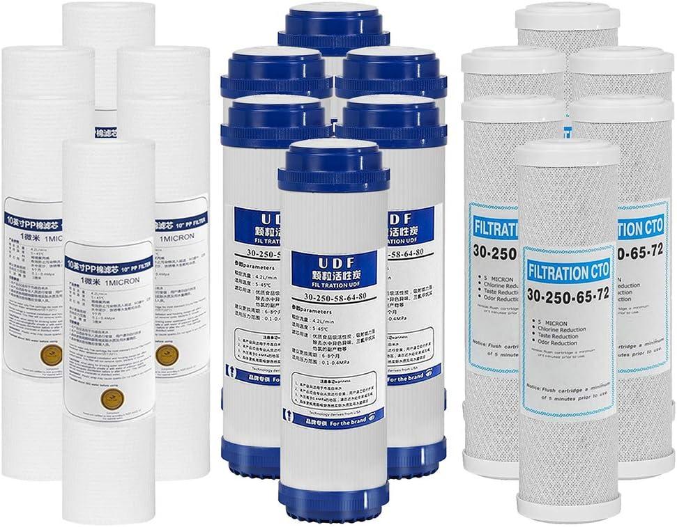 LZH FILTER Paquete de 18 Filtro de Agua Ósmosis Inversa de 1 a 3 ...