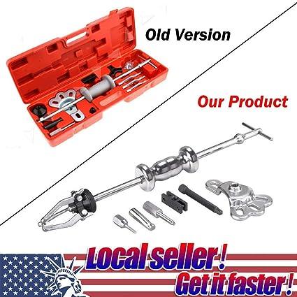 16Pc Axle Slide Hammer Dent Panel Puller Set Internal External Use Tool Kit New Automotive Tools & Supplies