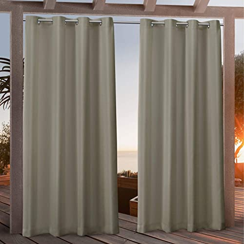 Exclusive Home Curtains Canvas Indoor/Outdoor Grommet Top Curtain Panel Pair
