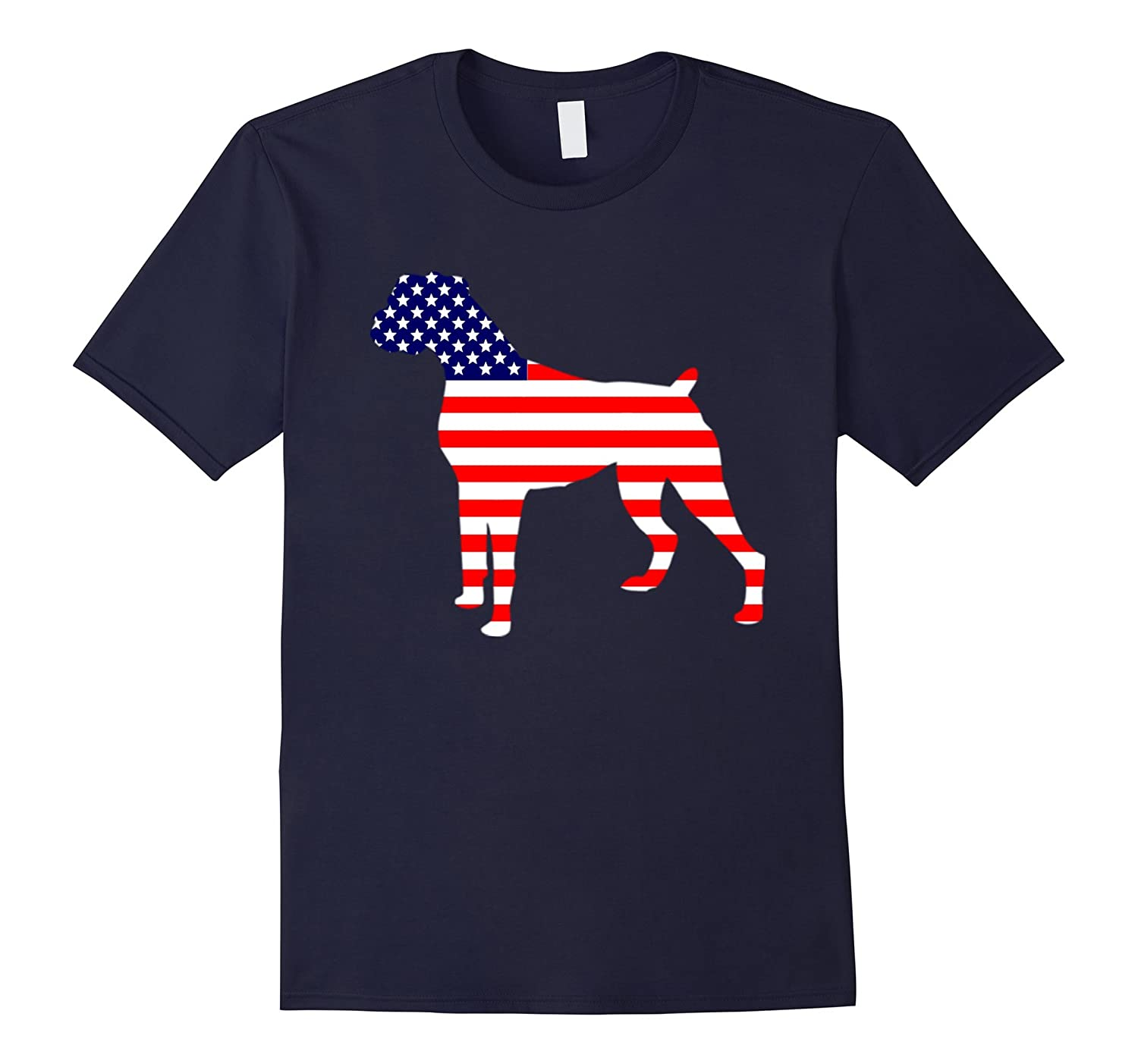 Boxer happy Independence Day of the US T-Shirt-Art