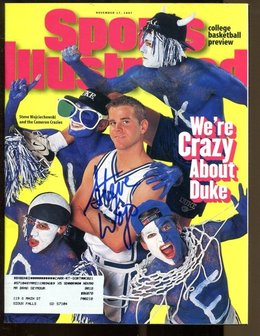 Steve Wojciechowski Signed 1997 Sports Illustrated 11/17 Autographed Duke 35504 headlinesports