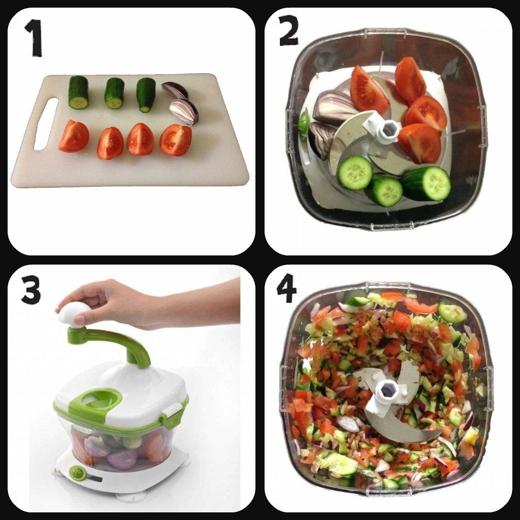 Amazon.com: Super Slicer Mandolin Vegetable Slicer Spiral Kitchen ...