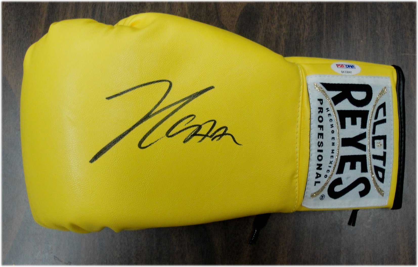 Julio Cesar Chavez Sr Signed Autographed Cleto Reyes Boxing Glove Yellow PSA/DNA