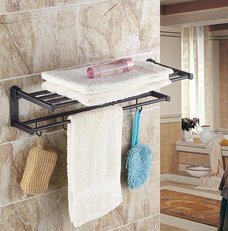 estante de toalla de latón doblado/actividad estante de toalla/Estante de baño de