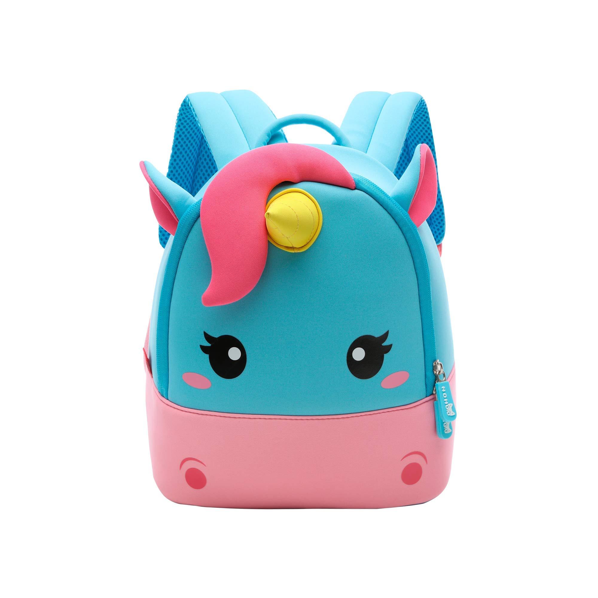 Toddler Girl Backpack, 3D Mini Unicorn Cartoon Travel Pre School Bag for Girls Boys Kids 10.8