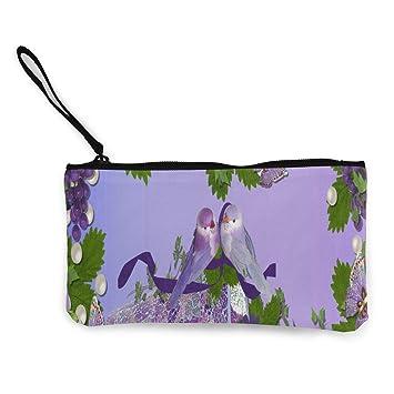 Monedero de tela, diseño de mandala, color morado: Amazon.es ...