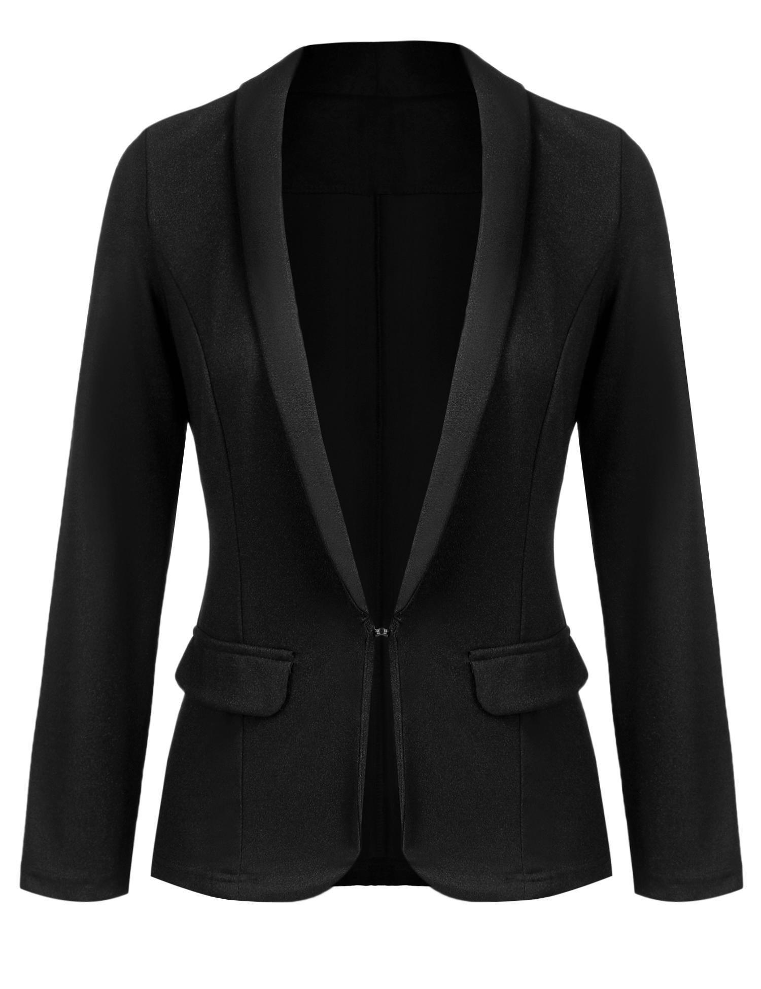 Yealsha Women's Overesized Long Sleeve Slim Fit Casual Blazer Tops