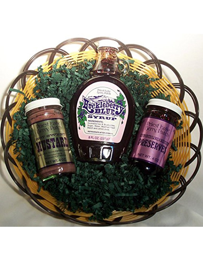 Huckleberry Gift Basket by Oregon Mushrooms