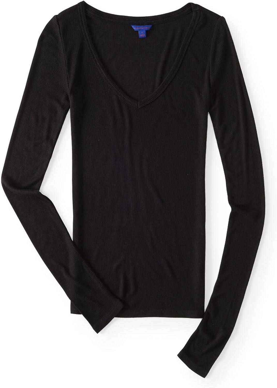 Aeropostale Womens Seriously Soft Slim Fit Basic T-Shirt